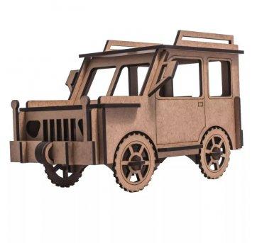 Quebra-cabeça MDF 3D Carro Jeep Pasiani