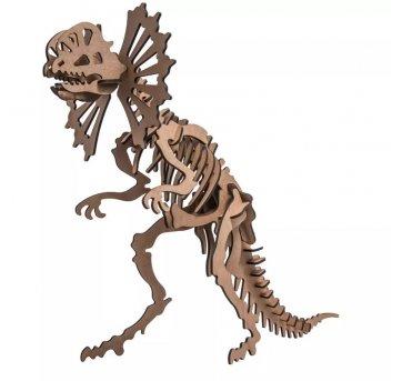 Quebra-cabeça MDF 3D Dinossauro Dilofossauro Pasiani