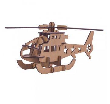 Quebra-cabeça MDF 3D Helicóptero  Pasiani