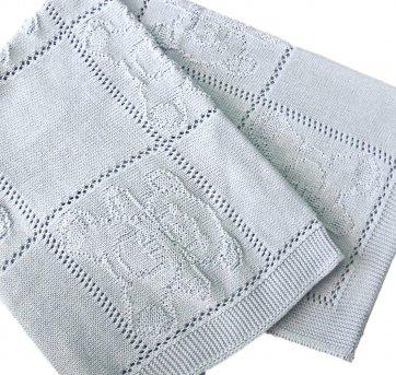 Cobertor Manta de Linha Ursinho Azul
