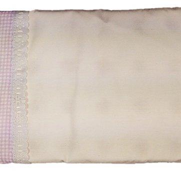 Travesseiro Antisufocante Para Bebê E Fronha Lilás Dardara