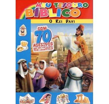 Livro Meu Tesouro Bíblico O Rei Davi Com Adesivos SBN