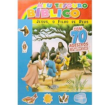 Livro Meu Tesouro Bíblico Jesus Filho de Deus Com Adesivos SBN