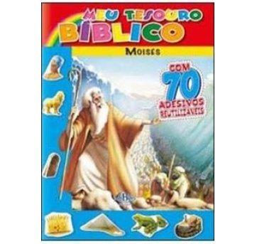 Livro Meu Tesouro Bíblico Moisés Com Adesivos SBN