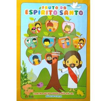 Cartaz Painel Quadro Decorativo Frutos do Espírito