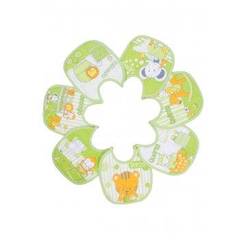 7 Babadores Semaninha Bichinho Plastificado Verde Papi 932