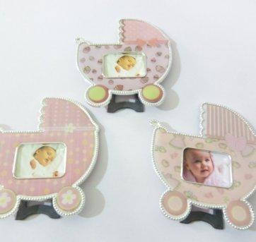 Porta Retrato Carrinho De Bebê Masculino Lembrancinha 12 pçs
