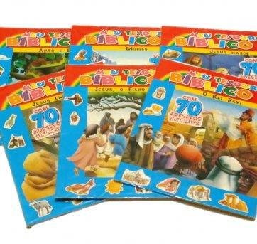 Kit 6 Livros Meu Tesouro Bíblico Com Adesivos SBN