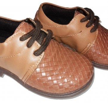 Sapato Social Infantil Masculino Marrom nº 22
