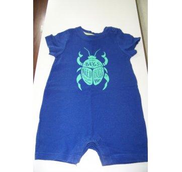 050-Macacão curto Baby Gap azul(0186)