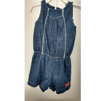 063-Macacão curto jeans Green(0584)