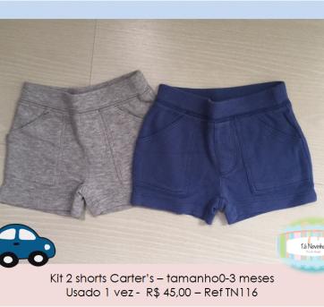 Kit 2 shorts Carters